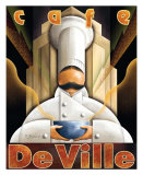 Cafe de Ville Print by Michael L. Kungl