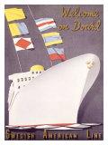 Swedish American Ocean Line Giclee Print