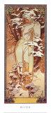 Invierno, 1900 Láminas por Alphonse Mucha