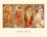 Les saisons, 1900 Art par Alphonse Mucha