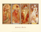 Les Saisons, 1900 Poster by Alphonse Mucha