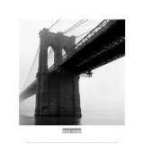 Brooklyn Bridge Fog Poster by Henri Silberman
