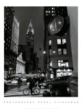 Chrysler Clock, Madison Avenue Prints by Henri Silberman