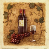Glass of Merlot Prints by Charlene Winter Olson