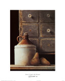 Spice Chest and Pears Print by Ray Hendershot