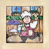 Café Poster by Linda Jacque