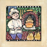 Brick Oven Bread Prints by Linda Jacque