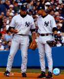 Alex Rodriguez & Derek Jeter - Vertical/Pinstripes ©Photofile Photo