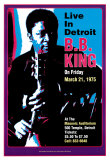 B.B. King - Live in Detroit Plakater av Dennis Loren