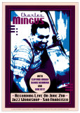 Charles Mingus Recording Live at the Jazz Workshop, San Francisco Art by Dennis Loren