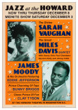 Dennis Loren - Sarah Vaughan and Miles Davis at the Howard Theatre, Washington D.C. Plakát