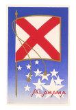 Alabama Flag Art Print