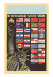 The United Nations Fight for Freedom, Art Print