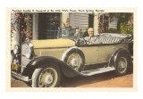 Franklin Roosevelt in Vintage Car, Warm Springs, Georgia Art Print