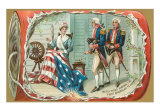 Betsy Ross Sewing Flag Print