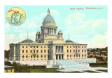 State Capitol, Providence, Rhode Island Art Print