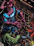 Powerless No.1 Group: Galactus, Hulk, Silver Surfer and Thor Pancarte matière plastique par Michael Gaydos