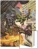 Secret Invasion: Runaways/Young Avengers No.1 Cover: Hulkling and Wiccan Wood Print by Michael Ryan