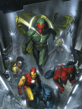 Secret Invasion No.2 Cover: Vision, Iron Man, Spider-Man, Luke Cage and Beast Plastic Sign