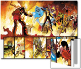 The Order No.1 Group: Anthem, Heavy, Calamity, Pierce, Avona, Maul, Corona and Infernal Man Art by Barry Kitson