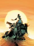 Thunderbolts No.158 Cover: Ghost, Juggernaut, Satana, Mach V, and Man-Thing Plastic Sign by Kev Walker