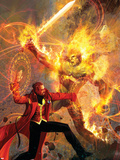 Strange No.6 Cover: Dr. Strange and Dormammu Fighting Plastic Sign