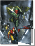 Secret Invasion No.2 Cover: Vision, Iron Man, Spider-Man, Luke Cage and Beast Posters