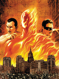 The Marvels Projects No.1 Cover: Human Torch Plastic Sign by Steve MCNiven
