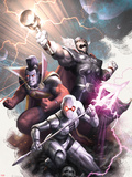 Annihilators No.4 Cover: Ikon, Gladiator, Beta-Ray Bill Plastic Sign by Alex Garner