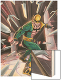 Iron Fist No.N3 Cover: Iron Fist Wood Print by Kevin Lau