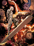 Silver Surfer No.3: Riding through Space Print by Harvey Tolibao