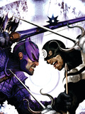 Dark Reign: Hawkeye No.2 Cover: Hawkeye and Bullseye Plastic Sign by Clint Langley