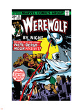 Werewolf By Night No.33 Cover: Moon Knight and Werewolf By Night Plastic Sign by Don Perlin