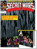 Secret Wars No.4 Cover: Hulk and Captain America Prints by Bob Layton