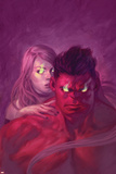 Thuderbolts 13 Cover: Red Hulk, Mercy Plastic Sign by Julian Totino Tedesco