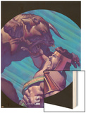 Hercules No.2 Cover: Hercules and Achelous Fighting Wood Print by Mark Texeira