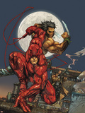 Astonishing Tales No.4 Cover: Daredevil, Wolverine and Punisher Plastic Sign by Kenneth Rocafort
