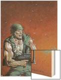 Fury Peachmaker No.2 Cover: Nick Fury Wood Print by Mark Texeira