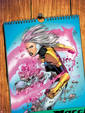 Thunderbolts No.171 Cover: A Calendar with Songbird Plastic Sign by Kev Walker