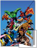 Secret Wars Cover: Captain America Art by Mike Zeck