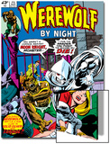 Werewolf By Night No.32 Cover: Moon Knight and Werewolf By Night Art by Don Perlin