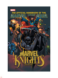 The Official Handbook Of The Marvel Universe: Marvel Knights 2005 Cover: Black Panther Plastic Sign by Pat Lee