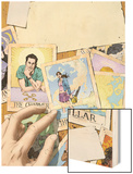 Spellbinders No.5 Cover: Vesco and Kim Wood Print by Mike Perkins