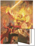Strange No.6 Cover: Dr. Strange and Dormammu Fighting Wood Print