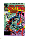 Secret Wars No.3 Cover: Colossus, Nightcrawler, Spider-Man, Wolverine, Storm, Cyclops and X-Men Plastic Sign by Mike Zeck