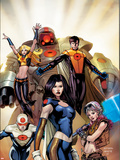 The Order No.1 Cover: Anthem, Calamity, Supernaut, Veda, Mulholland and Aralune Wall Decal by Barry Kitson