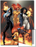 Marvel Divas No.1 Cover: Hellcat, Black Cat, Captain Marvel and Firestar Posters by J. Scott Campbell