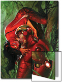 Secret Invasion No.3 Cover: Iron Man and Spider Woman Prints