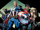 Ultimatum No.3 Group: Captain America, Hawkeye, Iron Man and Valkyrie Plastic Sign by David Finch