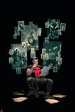 Thuderbolts 12 Cover: Punisher, Venom, Elektra, Deadpool, Red Hulk Wall Decal by Julian Totino Tedesco